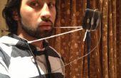 Sostenedor del alambre de percha manos libre teléfono
