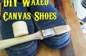 Zapatos de lona encerado DIY