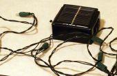 Haga que su propio solar powered led luces de cadena.  (máximo de $5 dólares)