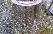 Incinerador de jardín de acero inoxidable - calentador del Patio de chatarra reciclada.