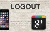 Cerrar sesión de Google Plus en aplicación móvil