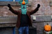 Máscara de Frankenstein de mache de papel