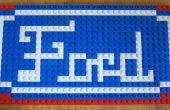 Mosaico de Lego Logo de Ford