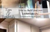 Cómo construir sus propios gabinetes de cocina