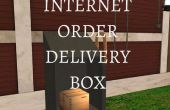 Caja de entrega del pedido de Internet