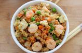 Camarón frito quinua