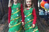 Luz hasta traje de árbol de Navidad