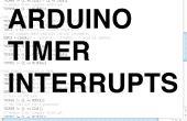 Interrumpe el temporizador de Arduino