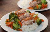 Cocinada a fuego lento crujiente panceta de cerdo chino
