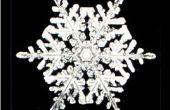 Seis caras papel copos de nieve