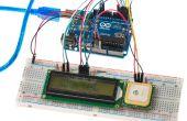 Mostrando la ubicación de GPS en una pantalla LCD de
