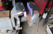 Mordazas de goma magnética para un tornillo de banco