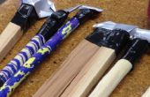Cola pluma construcción de Arizona madera y SF latas en Techshop