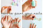 ¿Cómo pintar tus uñas