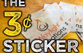 La etiqueta de ¢ 3 - hacer un vinilo adhesivo bricolaje