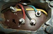 Cableado de un motor monofásico torno de Brooke Crompton (torno Myford)