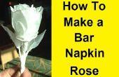 Cómo hacer una rosa con una barra de toalla