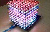 Cubo de Led RGB de uso 8 x 8 x 8 con Arduino