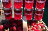 Mermelada de ruibarbo fresas