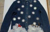 Azul feo suéter de Navidad