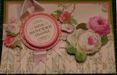 Hacer una tarjeta de falda doblada Floral clásico Anna Griffin