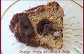 Chunky Monkey pastel con Fudge túnel y Ganache de Reese de