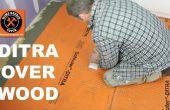 Instalar DITRA sobre un subpiso de madera (parada de azulejos agrietados)