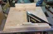 Sierra de mesa cortes transversales trineos