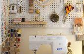Espacio de costura del armario