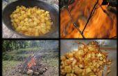 Construir una fogata y cocinar una comida deliciosa