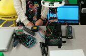 Luz de detección mecánica y sensores de flexión controlan flor Robot