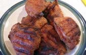 Pollo frito en la parrilla