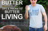 Más saludable vivir por hacer mantequilla (crema de agitación en mantequilla)