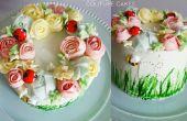 Puede flores corona pastel