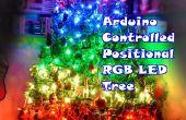 Arduino controla el árbol de Navidad de LED RGB posicional