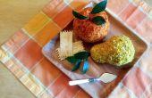 Manzana y pera en forma de bolas de queso