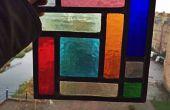 Panel de vidrio cubismo