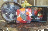 Pieza de arcilla y cerámica de fondo de cristal fácil