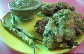 Buñuelo de frijol Moong indio (Moong Bhajiya)