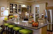 Ir verde con opciones de iluminación de energía eficiente cocina: luces de