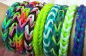 Arco iris telar cola de pescado trenza pulsera de