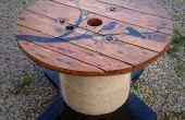 Mesa con diseño personalizado de cable carrete/tambor