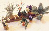 Plantas de papel de miniaturas para casa de muñecas
