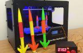 Lanzador del cohete modelo de Arduino para 3D impreso cohetes