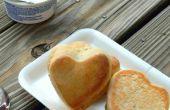 Corazón lindo peluche cena rollos | Bollos de coco