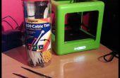 Administrar la impresora 3D filamento carretes con ataduras de cremallera