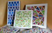 Arte PARED geométrica cromática
