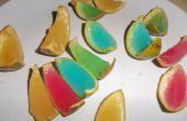 Gelatina arco iris naranja