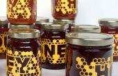 Laser-corte las etiquetas de miel