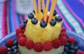 Hacer un pastel entero fruto: Baya pastel afrutado